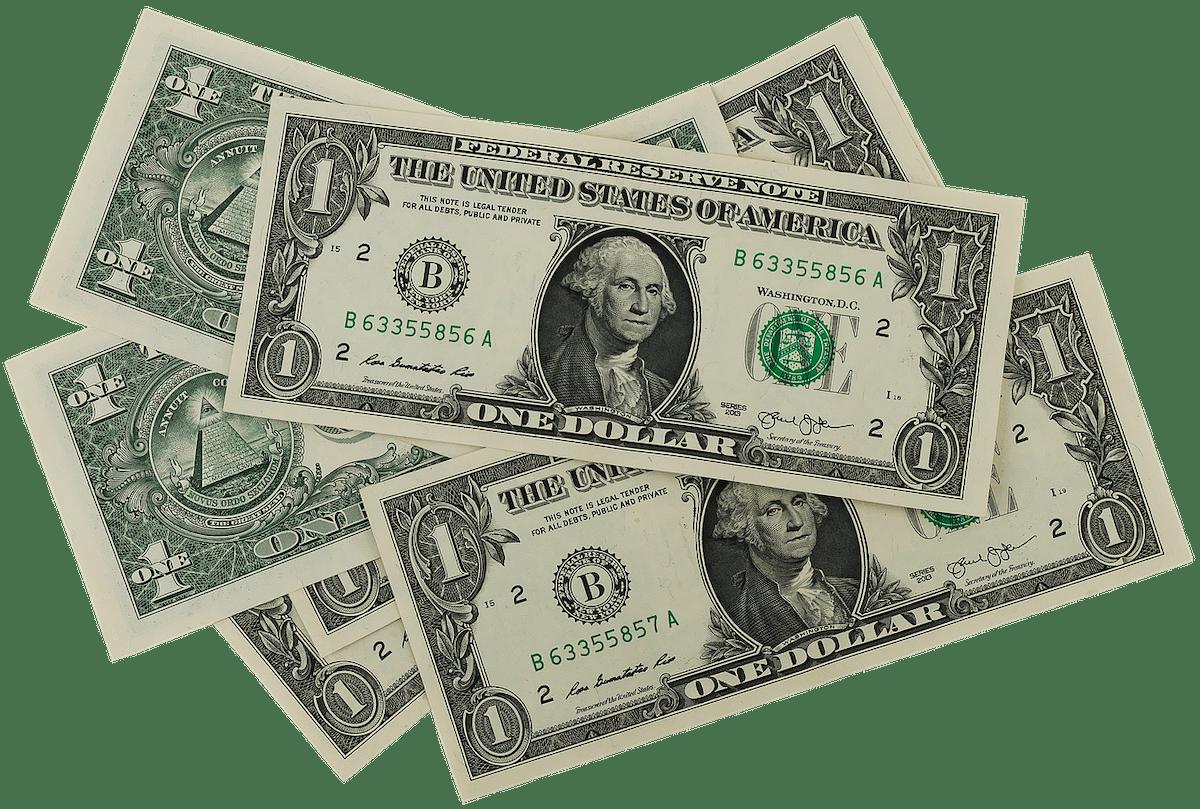 1ドル札・1通貨単位(FX取引)